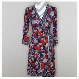 BCBGMaxAria Adele Print Wrap Dress